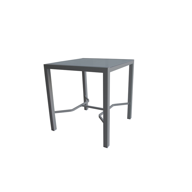 100 x 100cm Aluminium Lava Bar Table
