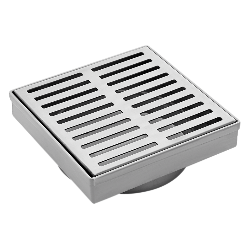 Concerto 100mm Stainless Steel Square Grate