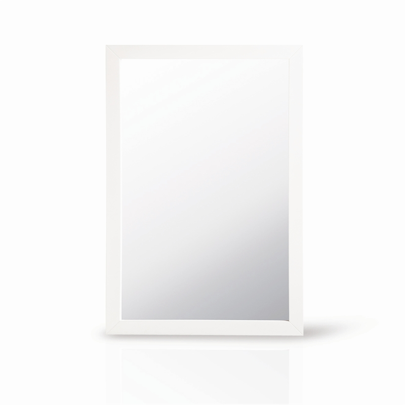 Award 900 x 600mm white framed mirror bunnings warehouse for White framed mirror
