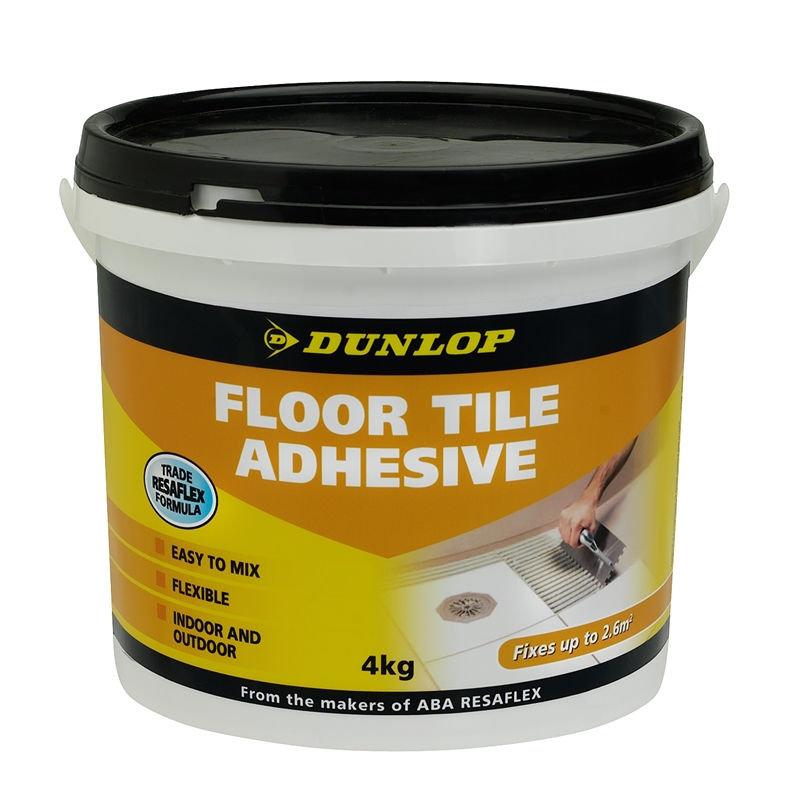 dunlop 4kg floor tile adhesive bunnings warehouse