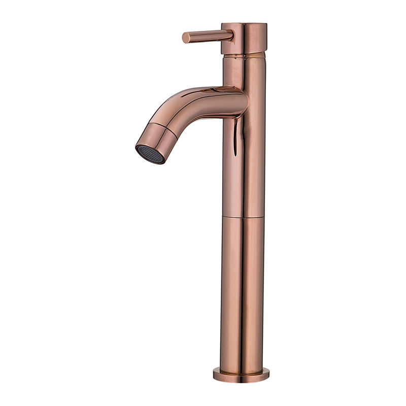 Resonance WELS 5 Star 6L/min Rose Gold Tall Pin Lever Basin Mixer