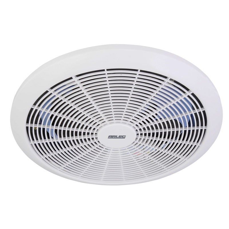 Arlec 250mm white exhaust fan for Bathroom exhaust fan cover