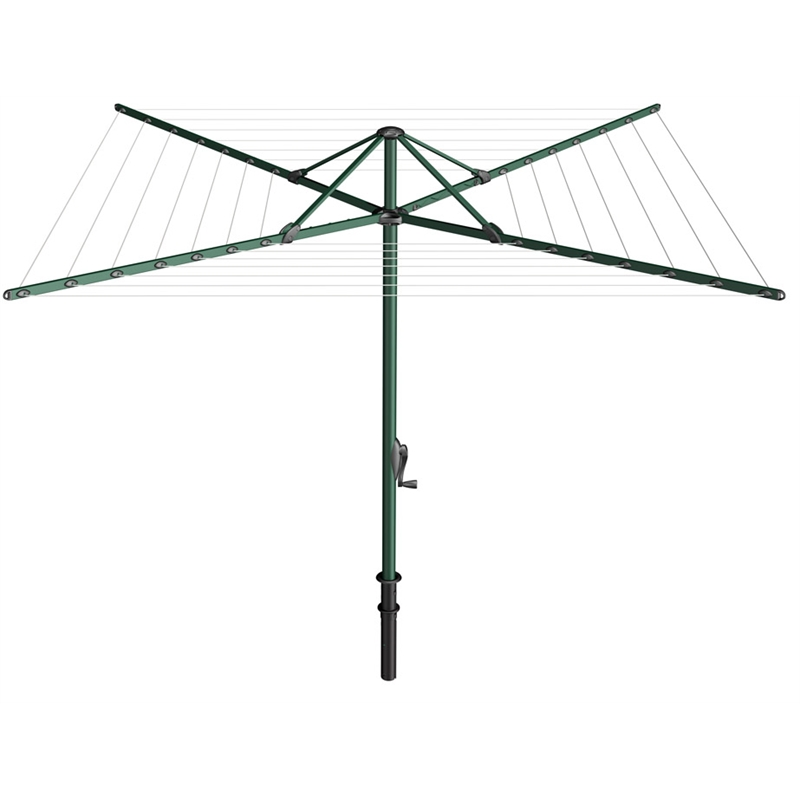 46m 7 Line Evergreen Rotary Clothesline