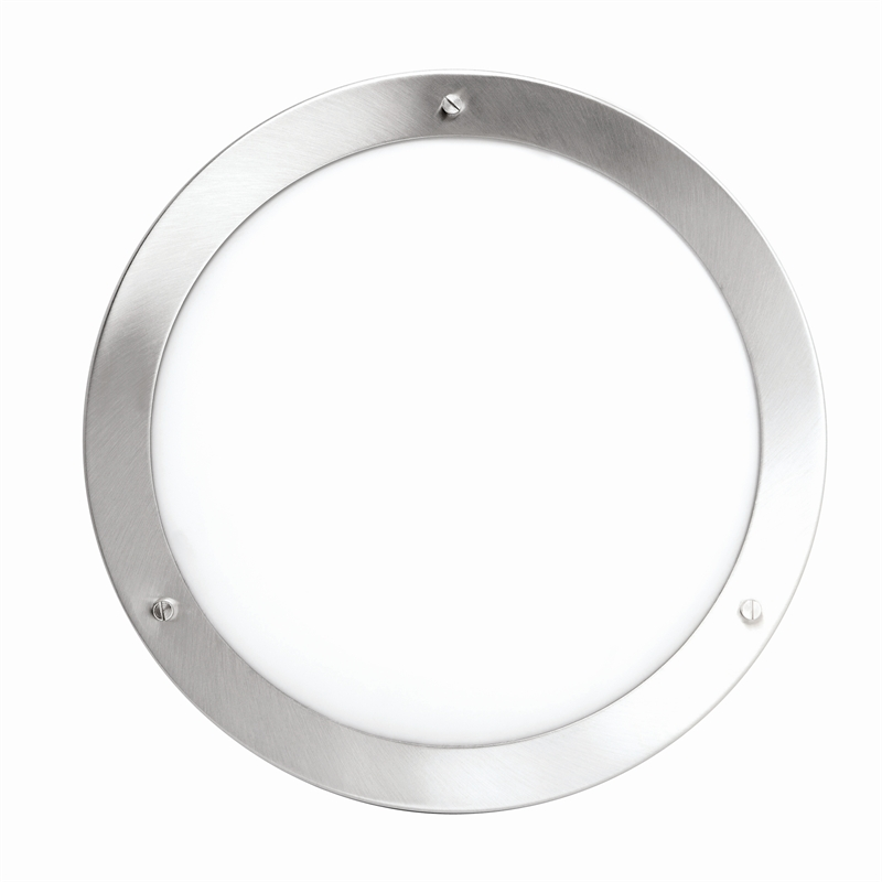 Brilliant 60w ip44 oyster ceiling light ebay this brilliant light is a modern styled flush ceiling fitting with decorative frosted glass and a brushed stainless steel trim mozeypictures Gallery