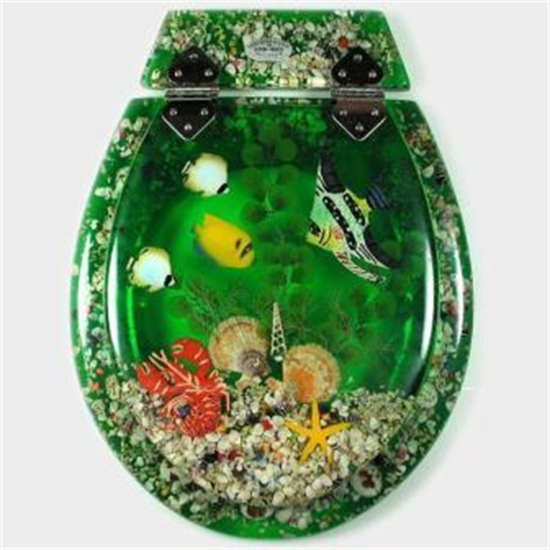 Loo With A View 3 Piece Tropical Fish Greenwash Toilet Seat I N 5140015 Bun
