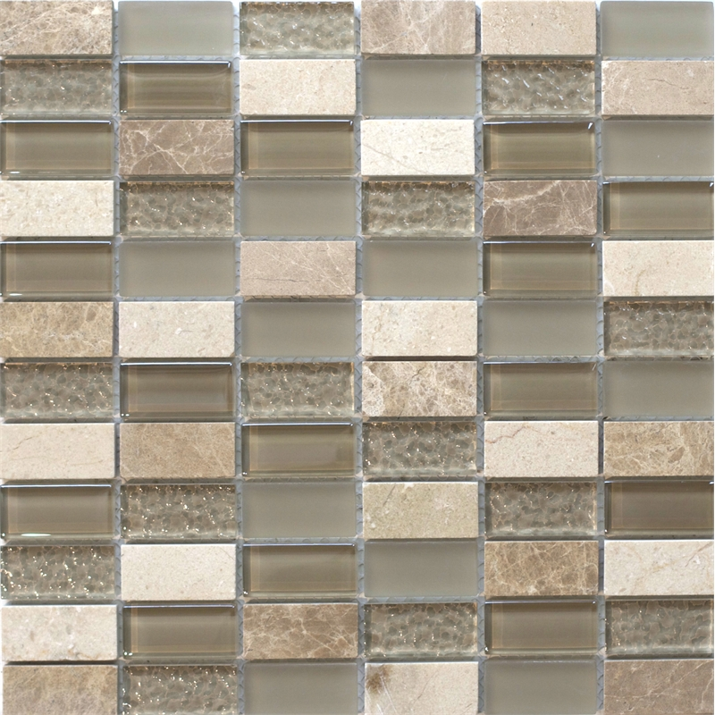 decor8 tiles 300 x 300 x 8mm light beige linear mosaic tile