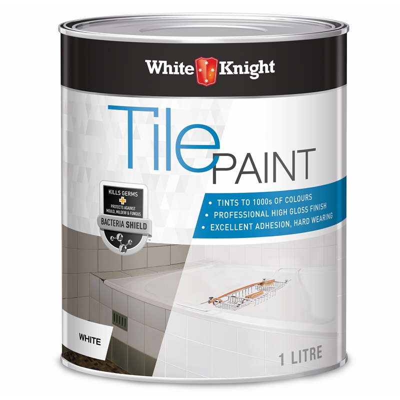 white knight 1l white tile paint bunnings warehouse. Black Bedroom Furniture Sets. Home Design Ideas