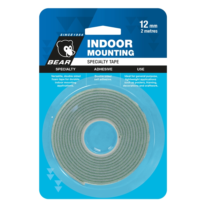 Bear 12mm X 2m White Indoor Mounting Tape Bunnings Warehouse