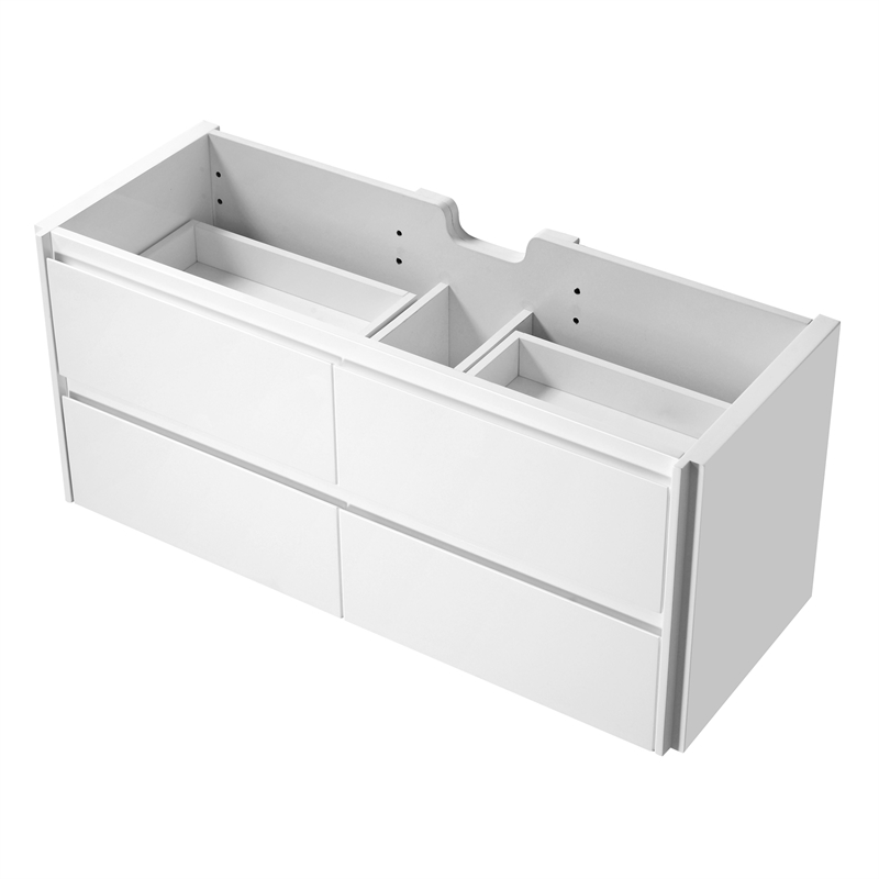 Rococo 1200mm White Wall Hung Vanity - Cabinet Only