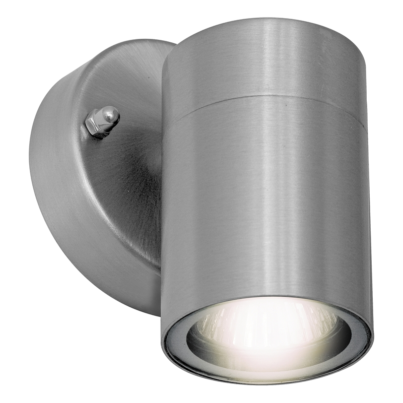 Arlec Stainless Steel Down Wall Light Bunnings Warehouse
