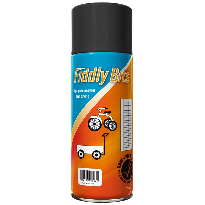 Fiddly bits 250g spray paint flat black bunnings warehouse Paint with spray can