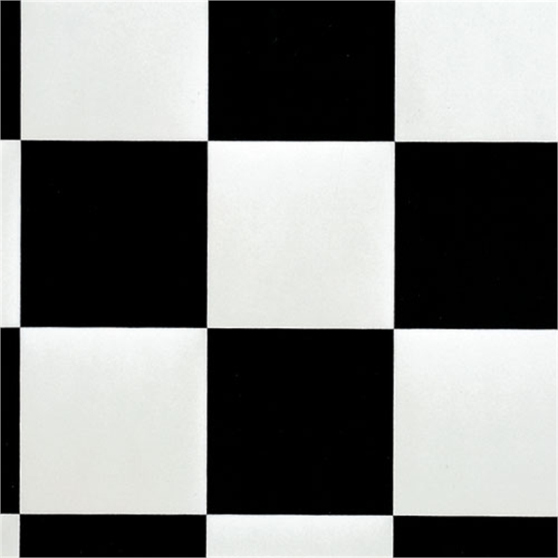 Gerflor essential 3m wide damier black and white sheet for Black and white linoleum sheet flooring