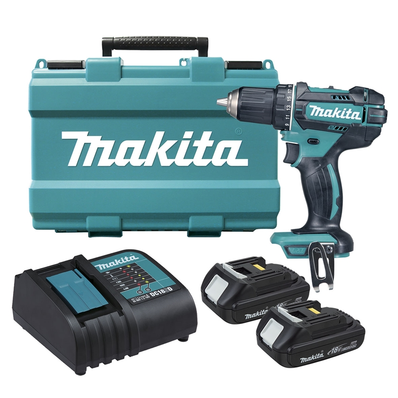 makita lxt 18v 2 x 1 5ah cordless drill driver kit bunnings warehouse. Black Bedroom Furniture Sets. Home Design Ideas