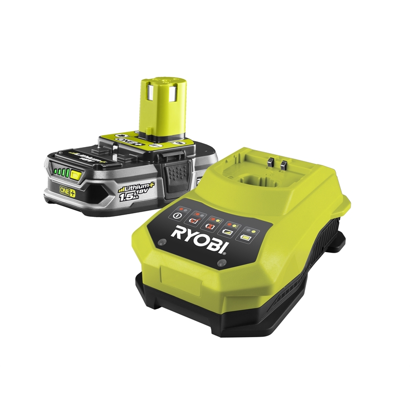 ryobi one 18v 1 5ah lithium battery and charger. Black Bedroom Furniture Sets. Home Design Ideas