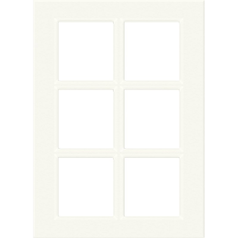 Kaboodle 400mm 6 Panel Glass Cabinet Door Antique White