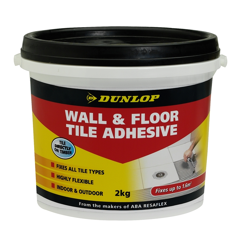 Dunlop 2kg Wall And Floor Tile Adhesive