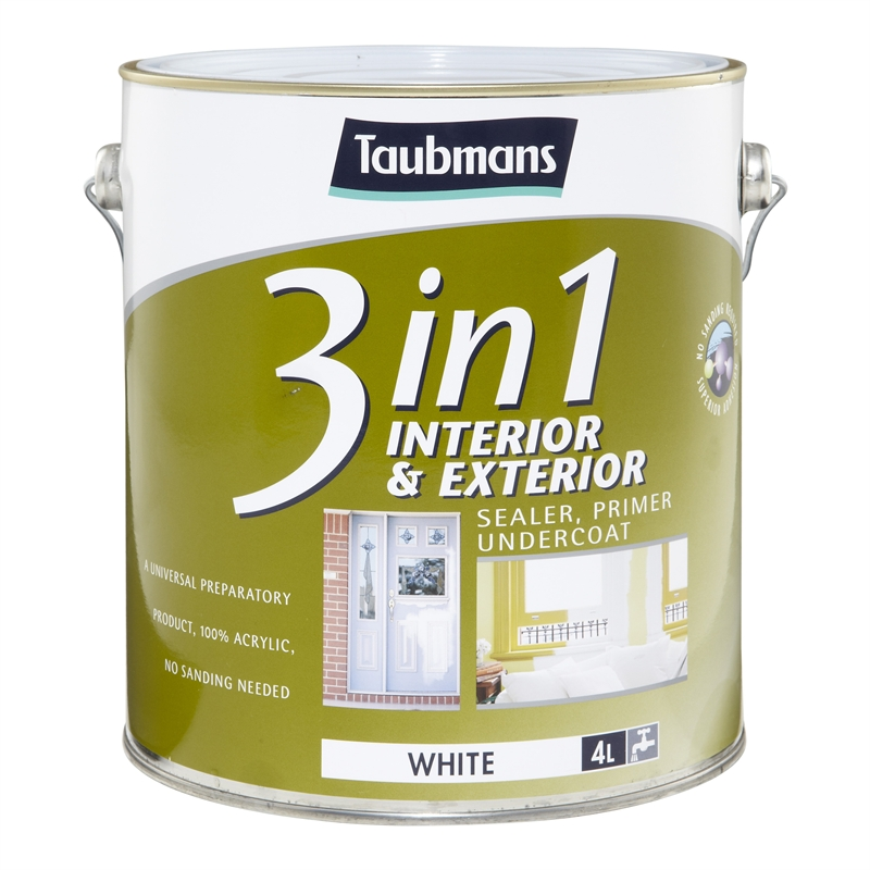 Taubmans 3 in1 4L Sealer Primer Undercoat