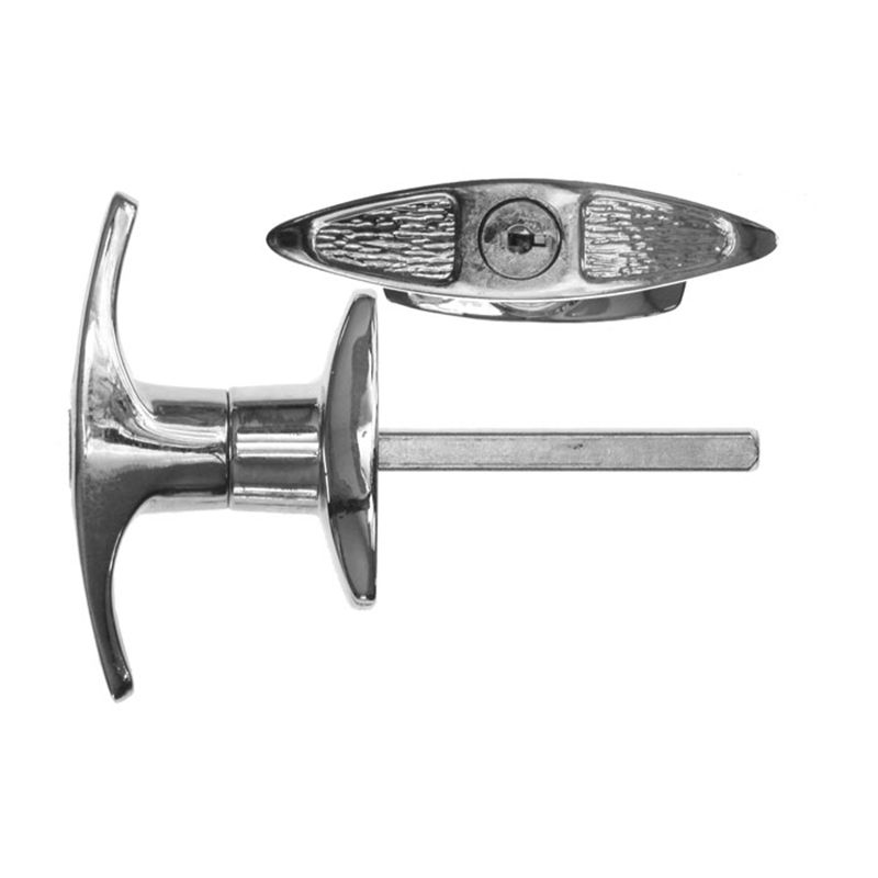 Details About Rolltrak Spares Keyed Multi Movement Front Fixed T Handle  Garage Door Handle