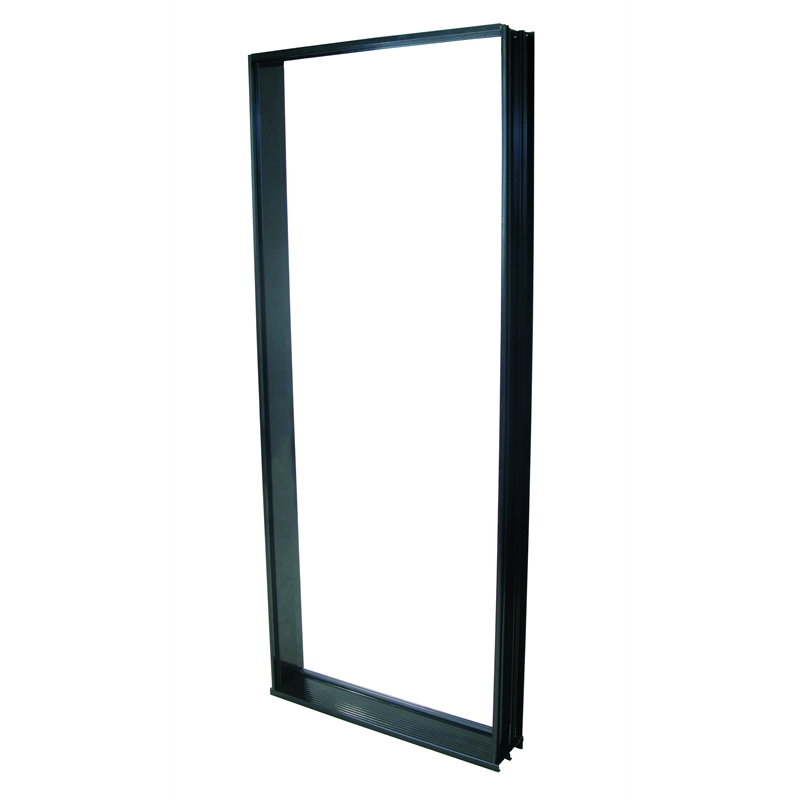 Polar 2040 x 820mm black aluminium entry door frame for Entrance door frame