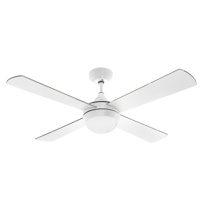 ... 120cm White Columbus Ceiling Fan With LED Light and Remote Control