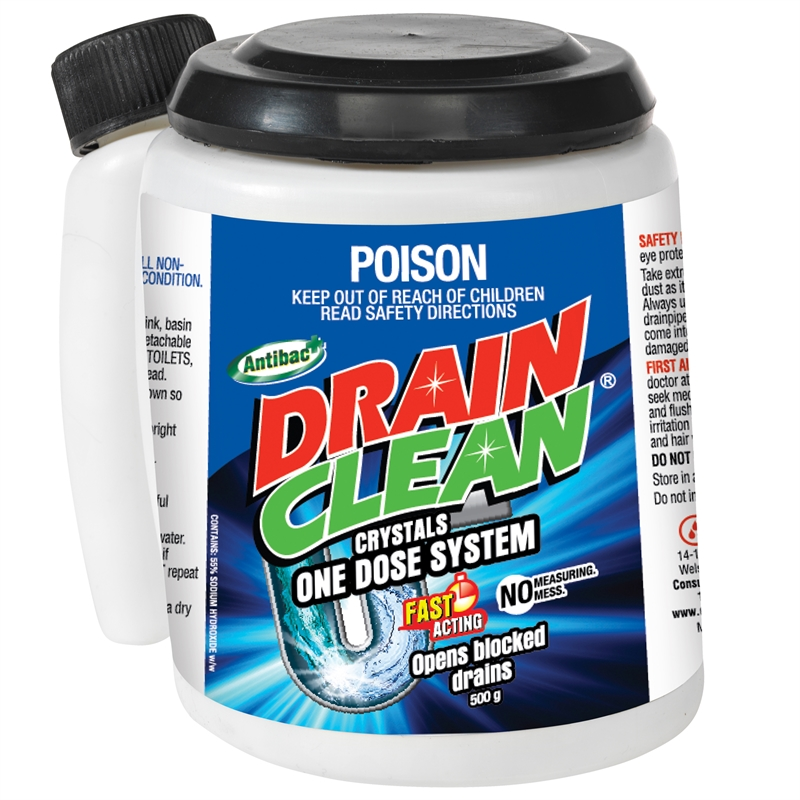 how to clean main drain