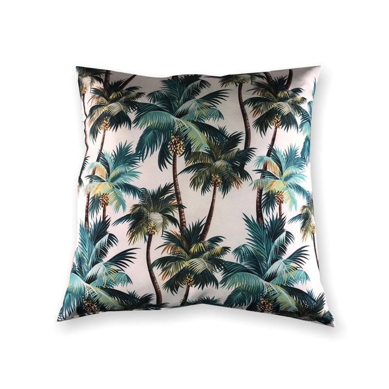 Mojo 60cm La Palm White Outdoor Cushion Cover