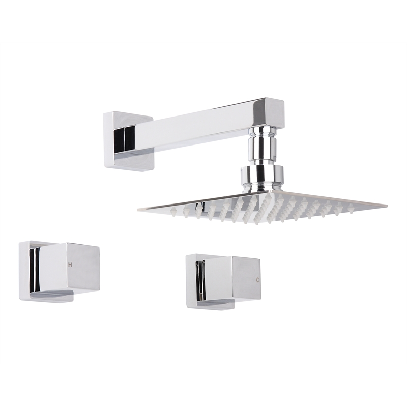 Rococo 150mm Chrome Shower Set