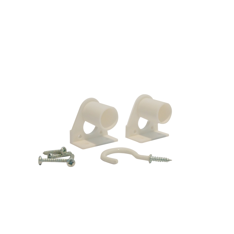 Windoware White Bracket Curtain Rod Accessory