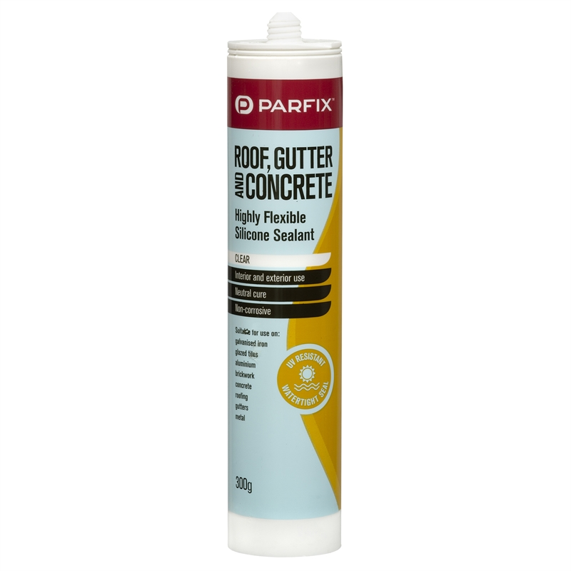 Parfix 300g Clear Roof Gutter And Concrete Silicone
