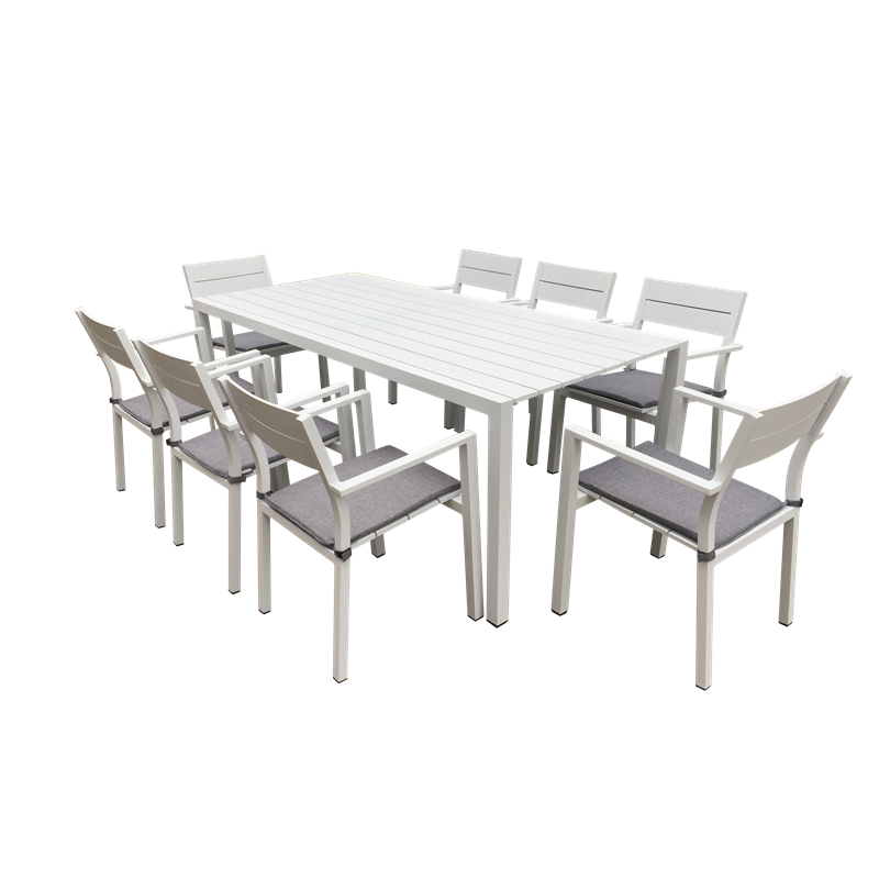 Mimosa 9 Piece Aluminium Coral Bay Dining Setting Bunnings Warehouse