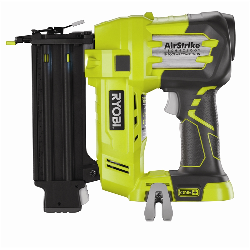 ryobi one 18v cordless brad nail gun skin only bunnings warehouse. Black Bedroom Furniture Sets. Home Design Ideas