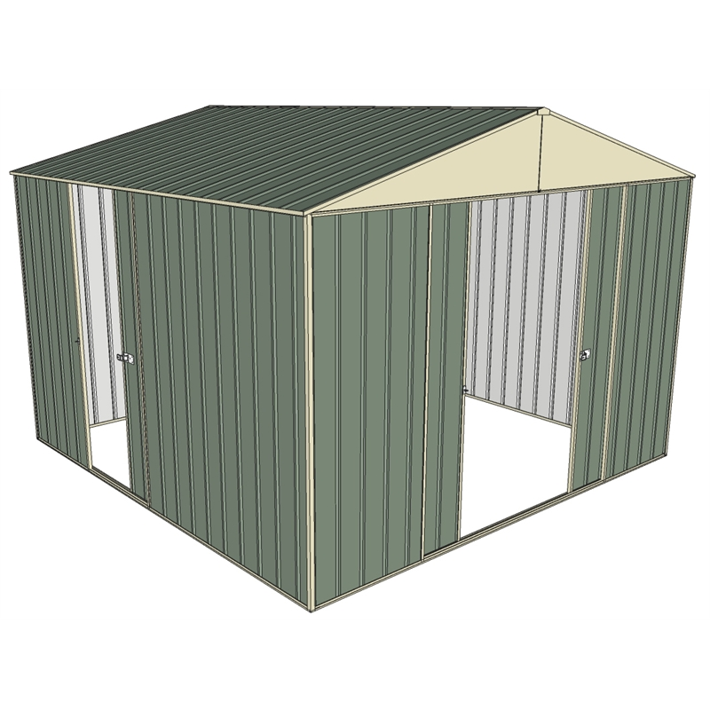 Build A Shed 3 0 X 3 0 X Green Triple Sliding Door Shed