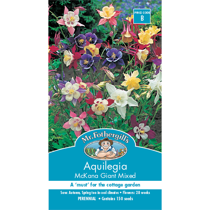 Mr Fothergills Mckana Giant Mixed Aquilegia Flower Seeds