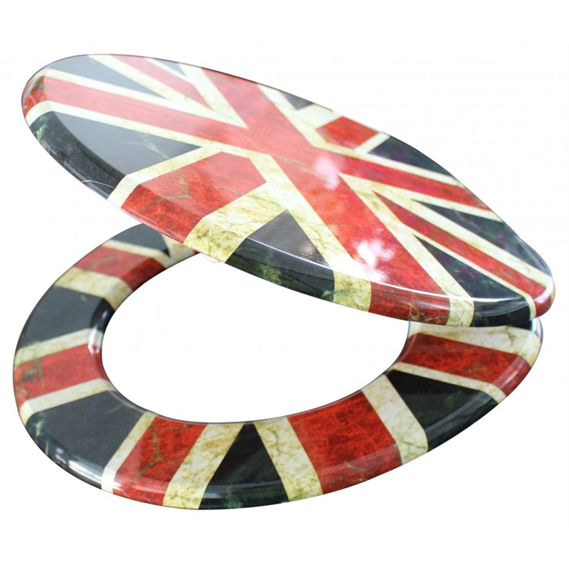 Mondella 430 x 370mm Union Jack Toilet Seat