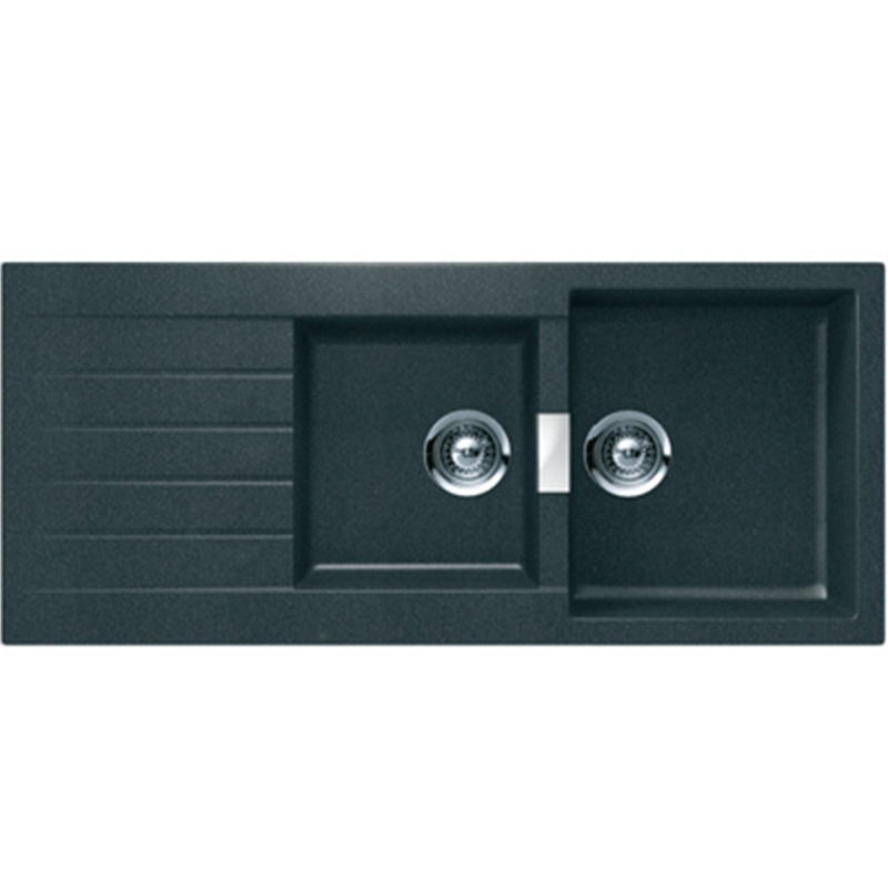 Abey 1.75 Bowl Black Granite Schock Sink | Bunnings Warehouse