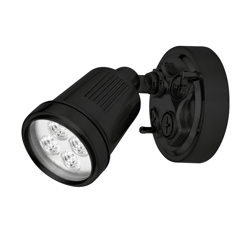 50w Led Flood Light Bunnings: Brilliant 6W LED Avalon Black Security Flood Light