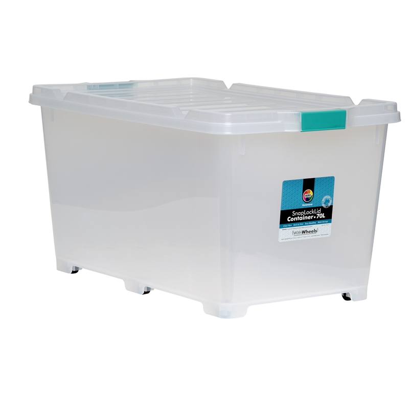 Willow 70l Huro Snap Lock Storage Container With Lid