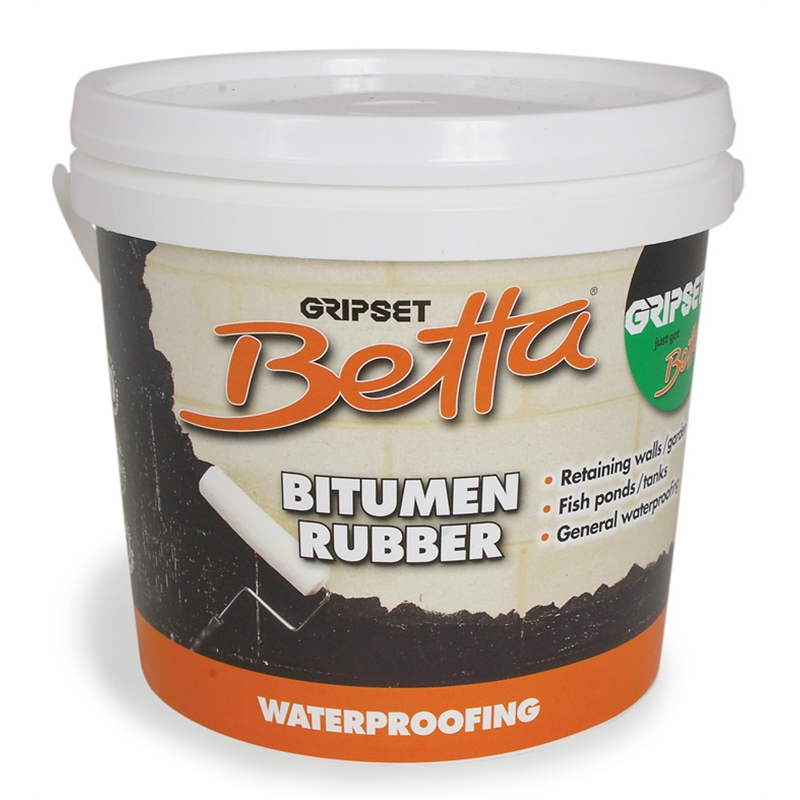 Gripset Betta 1L Waterproofing Membrane Bitumen Rubber
