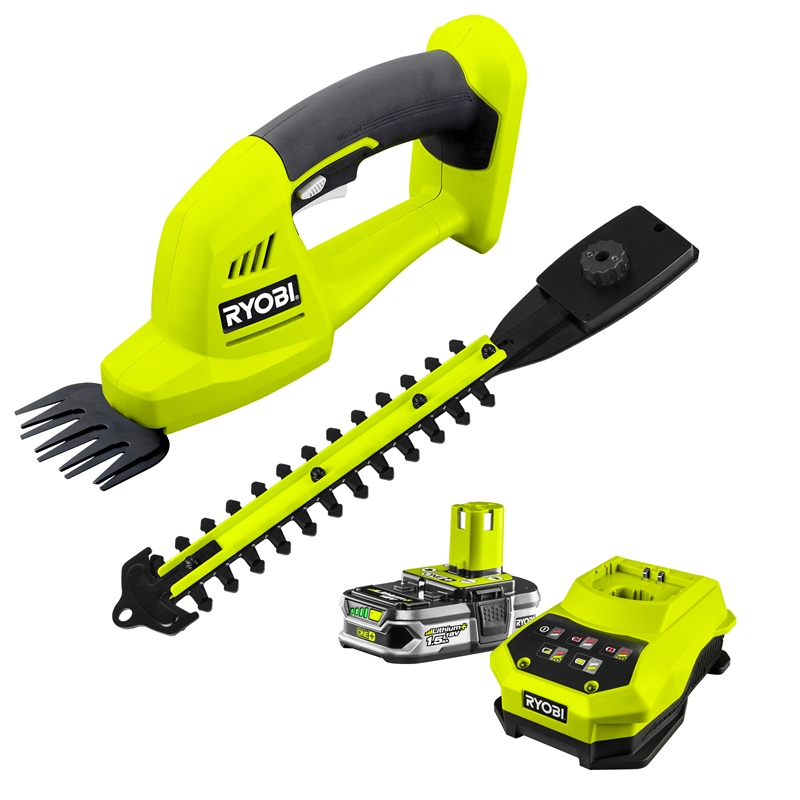 Ryobi ONE+ 18V Cordless 200mm Grass Shear And Hedge Trimmer Kit