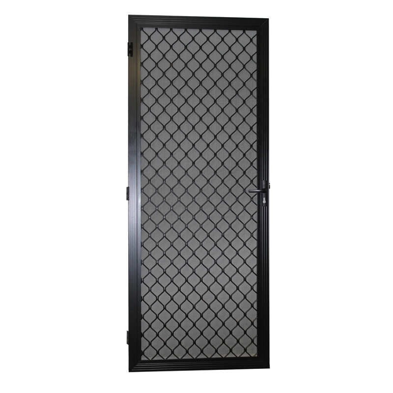 Protector Aluminium 808-848mm x 2030-2070mm Black Adjustable Grille Security Door  sc 1 th 225 & Protector Aluminium 808-848mm x 2030-2070mm Black Adjustable Grille ...