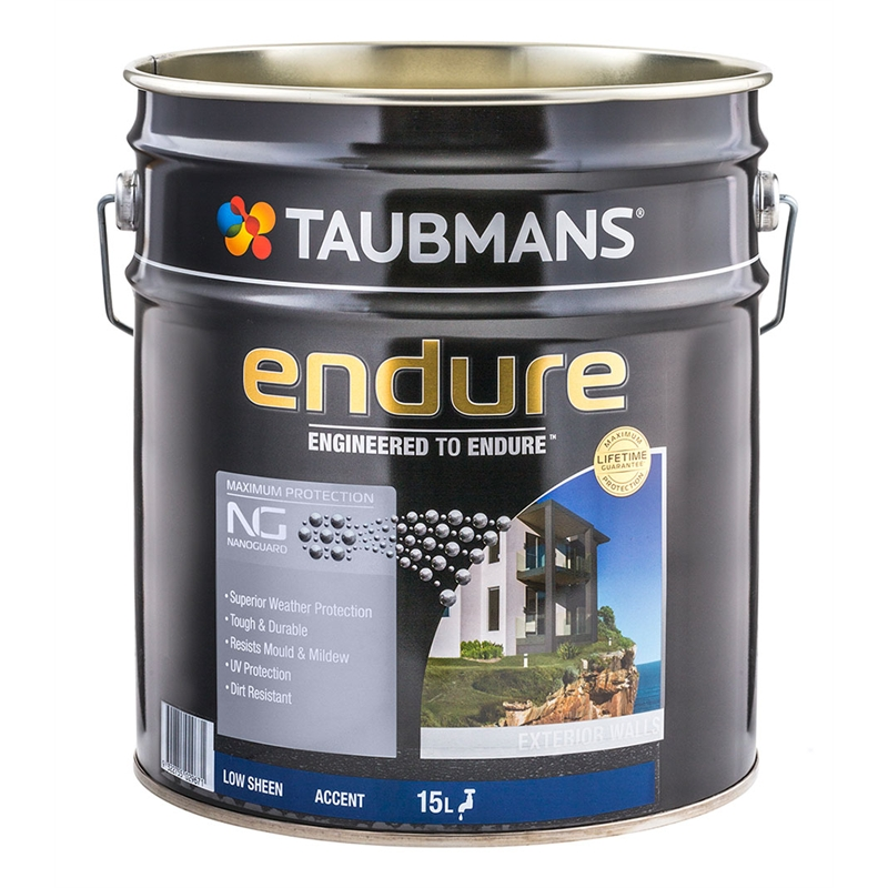 Taubmans Endure 15l Accent Low Sheen Exterior Paint Bunnings Warehouse