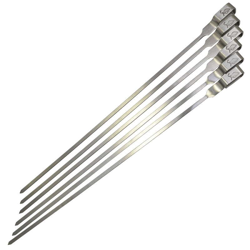 Stainless Steel Skewers - 6 Pack