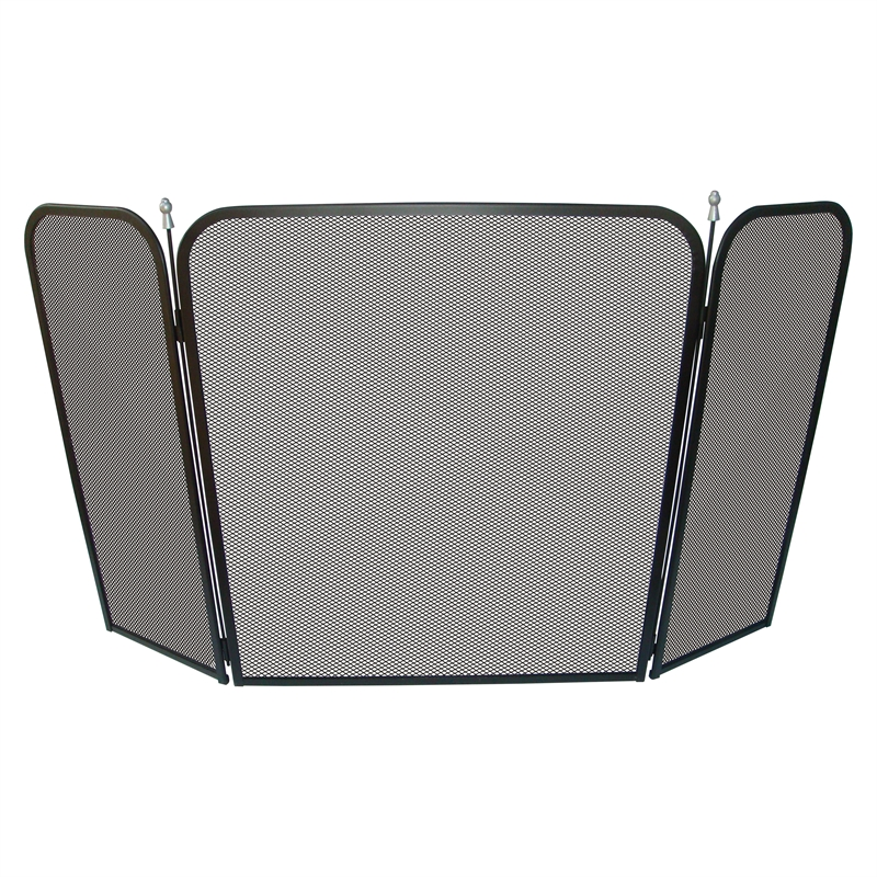 120 x 70cm Tri-fold Steel Fire Screen