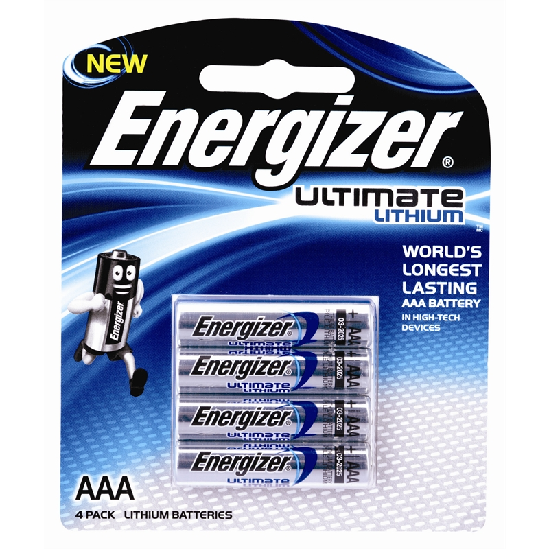 energizer ultimate lithium aaa battery 4 pack bunnings warehouse. Black Bedroom Furniture Sets. Home Design Ideas