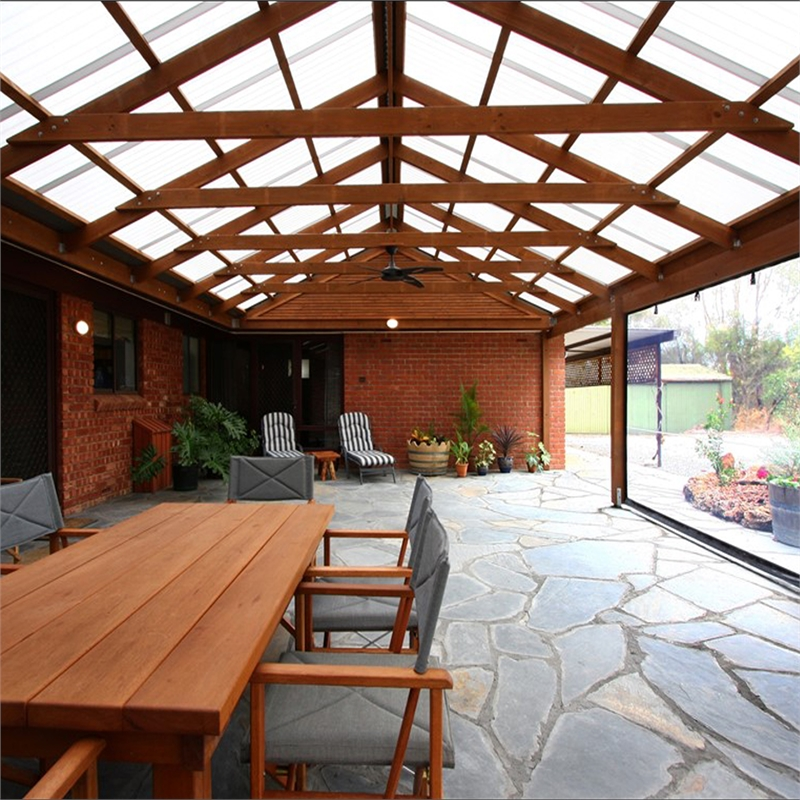 Picture Of A Gable Roof: Softwoods 11.4 X 4.3m Suntuf Standard Gable Roof Pergola Kit