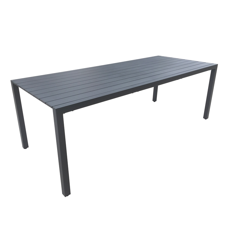 220 x 90cm Aluminium Lava 8 Seater Dining Table
