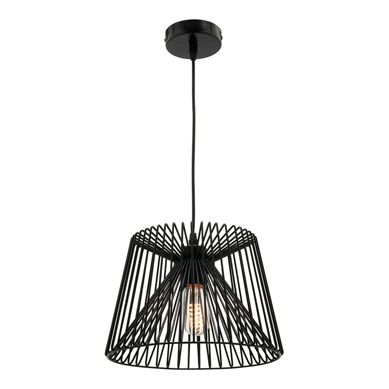 Mercator 240v 27cm Small Black Zurich Pendant Light