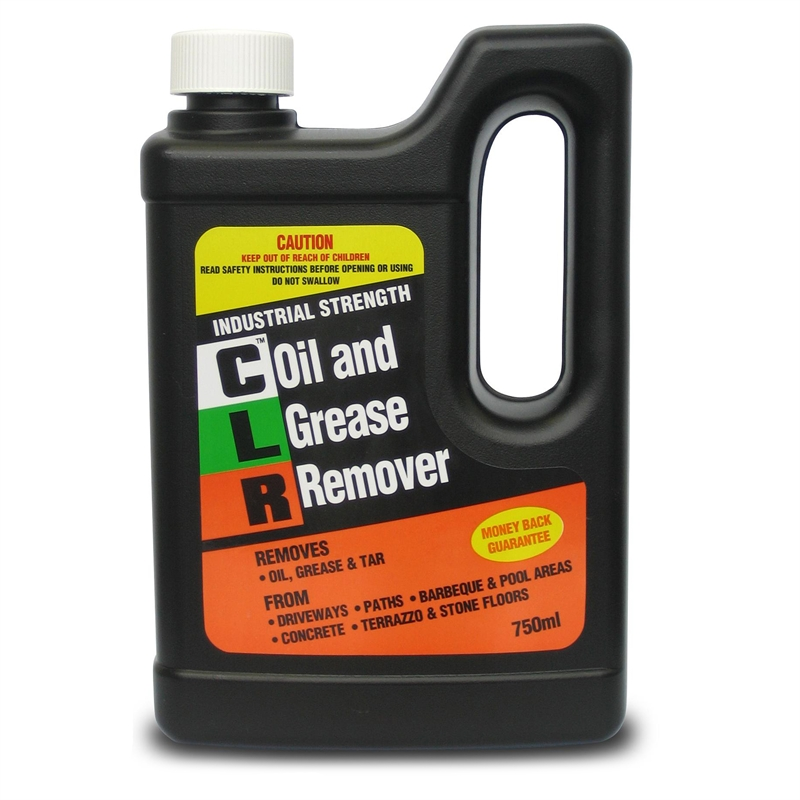 Clr 750ml oil and grease remover bunnings warehouse for Concrete cleaner oil remover