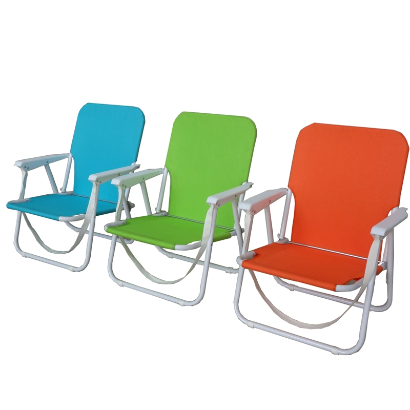 Sommersault assorted colours folding steel beach chair for Pool deck chairs for sale