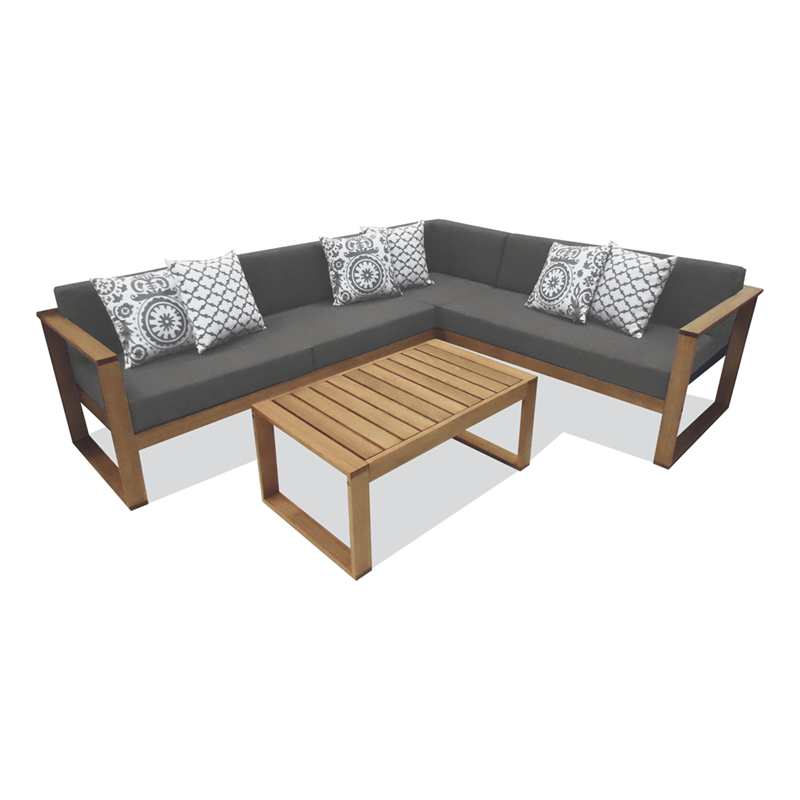 Mimosa avani corner sofa setting bunnings warehouse for Outdoor furniture canberra